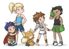 Young Super Smash Bros characters. I really like this concept.