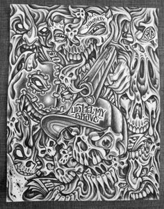 Incarcerated drawing by Jawser.