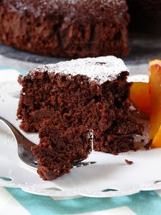 Vegan Brownie, Vegan Cake, Tortillas Veganas, Nutella, Delicious Desserts, Dessert Recipes, Eggless Recipes, Italian Cake, Torte Cake