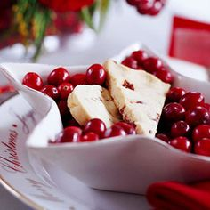 Cranberry Shortbread-  Dried cranberries dot shortbread dough, giving holiday flair to these traditional cookies.