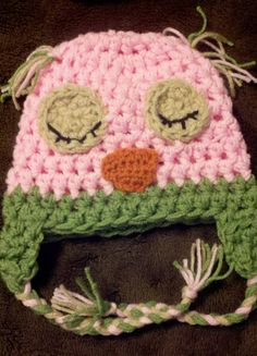 SALE Owl Baby Hat Crochet ANY COLORS 03 Mos by BellaMariesboutique, $11.99