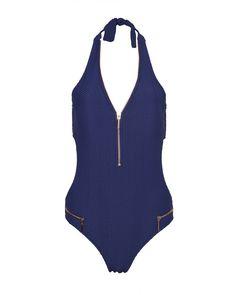 Bilitis Μαγιό Ολόσωμο με Φερμουάρ Palmarosa Μπλε (C cup) – Tartora.gr Bodysuit, Swimwear, Tops, Women, Fashion, Onesie, Bathing Suits, Moda, Swimsuits