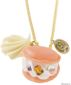 Orange Macaron Jewel Necklace