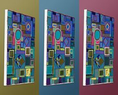 Original Geometric Painting by Ted Silvera
