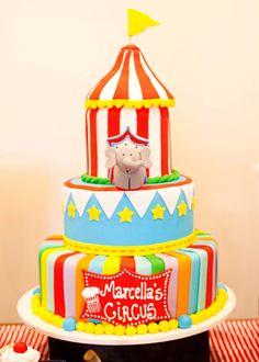 Circus Party. Love the cake!