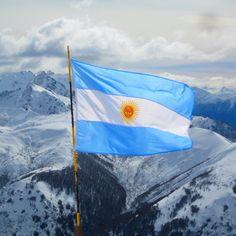 argentina flag in Bariloche! Flags Of The World, Places Around The World, People Around The World, Around The Worlds, Central America, South America, Patagonia, Iguazu Falls, Santa Cruz