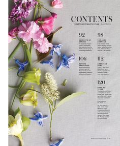 Beautiful Typography and Editorial and Magazine Design. Martha Stewart Living