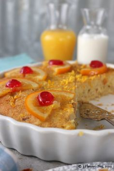 Fresh orange and nutty, toasted coconut combines surprisingly well in this syrup inundated celebration of radiant orange-ness. Coconut Tart, Toasted Coconut, Orange Syrup, Celebration, Pudding, Fresh, Breakfast, Cake, Sweet