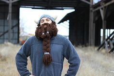 The ultimate viking beard! Ravelry: TacticalGranny's Viking Beanie with Beard