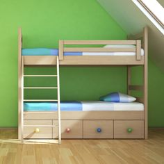 When the big day comes for your child to move to their room, our children's beds are a great fit.  The sturdy frame, ladder and railings keep your little one safe. The top bunk has raised sides for keeping your child safe. The bottom of the lower bed has been fashioned into storage spaces. A ladder has been provided for easy movement up and down. All our products go through strict quality checks at every stage to ensure that you get premium , child safe,long lasting furniture.