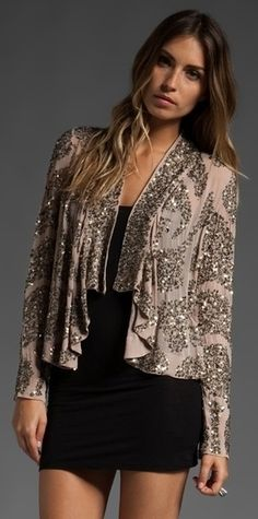 ANTIK BATIK Lisa Sequin Jacket in 'Powder'