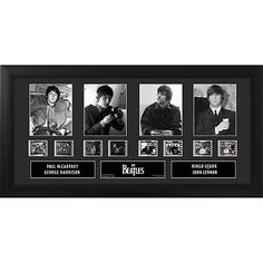 """The Beatles Wood Framed Film Cells Plaque 20""""x11"""" 