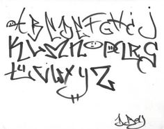 Sketch Graffiti Letters A-Z by BerkdaNgriv – Tag Graffiti Alphabet ...