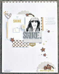 *shine* by JanineLanger at @studio_calico More white space in the layers