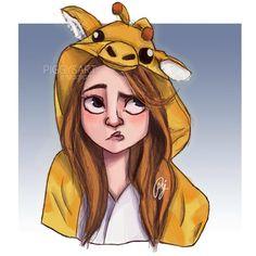 piggysart instagram facebook illustration drawing sketch girl  meghan trainor