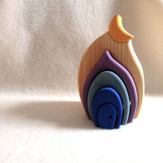 Beautiful stacking toy/puzzle/dollhouse. Handmade in Germany