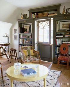 Dutch Door; Lindsey and Kristen Buckingham's Home;  door color is Tobacco by Pratt & Lambert Paint