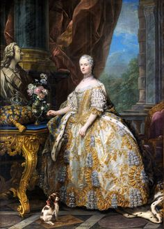 Marie Leszczinska, Queen of France (1747) Charles-André van Loo - Pesquisa Google