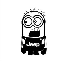 JEEP Minion Decal by stickermonkey on Etsy https://www.etsy.com/listing/242174597/jeep-minion-decal