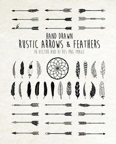 Dream Catcher, Feather Clipart, Arrow Clipart - Tribal, Boho, Rustic Clipart Clip Art PNG Vector EPS, AI Design Elements Digital Download by seaquintdesign on Etsy https://www.etsy.com/listing/238330522/dream-catcher-feather-clipart-arrow