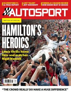 <strong>In This Issue:</strong>  Hamilton's Heroics - Lewis thrill home fans and matches Nigel Mansell  Silverstone F1 16 Page Report  Formula E Season Review