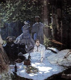 Almuerzo campestre - Pintura de Manet