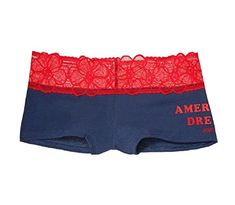 Victorias Secret PINK Low Rise Boyshorts American Dream Small Blue Red ** You can get additional details at the image link.