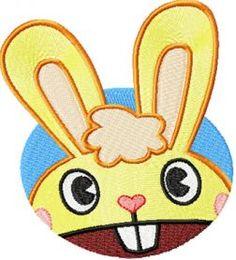 Happy Rabbit Smile machine embroidery design. Machine embroidery design. www.embroideres.com