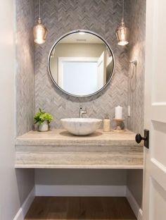 21 Ideas for bathroom wallpaper modern pedestal sink bathroom 375206212706597745 Bathroom Wallpaper Modern, Modern Bathroom Sink, Small Space Bathroom, Small Bathroom Vanities, Bathroom Layout, Modern Bathroom Design, Bathroom Interior Design, Master Bathroom, Bathroom Ideas