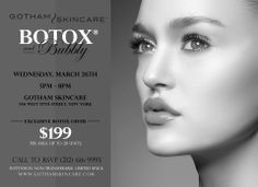 Here was our last invitation for our Botox and Bubbly Event.