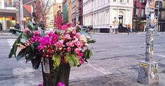 Someone Is Leaving Incredible Flower Displays All Over NYC via @PureWow