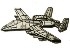 Fairchild Republic A10 Thunderbolt II pewter plated plane pin Sujak Military Items. $8.95. For hat, clothing or gear. Heavy quality, excellent detail. Rubber clasps for secure wear. 2 1/2 inches wide