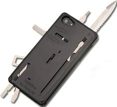 TaskOne: Your iPhone is your life. You carry it all the time. You love your phone, but it falls short when you need to fix your bike, tighten a screw, or cut your steak. There isn't an app for that. But what if there was a CASE for that? Now you can carry a multi-tool built right into the case of your iPhone. Twenty-Two of the most useful tools engineered into a thin package. And at 89 grams TaskOne adds surprisingly little weight to your phone.
