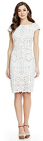 ANTONIO MELANI CHANTEL CAP SLEEVE LACE DRESS  Available Colors: Ivory/Nude Available Sizes: 2,14,12,10,0,8,6,4 DETAILS From Antonio Melani, the Chantel dress features: allover lace square neckline cap sleeves exposed back zipper closure polyester shell; polyester lining dry clean Imported.  $179.00   http://womensfashionbyantoniomelani.blogspot.com/2016/04/antonio-melani-chantel-cap-sleeve-lace.html
