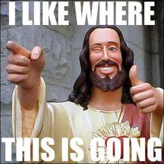 Buddy Jesus- hilarious.
