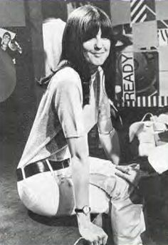 Cathy McGowan 'Queen of the Mods' and presenter of the 60s music programme Ready Steady Go.