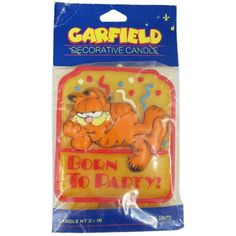 Garfield 'Born to Party' Vintage Cake Candle (1ct)