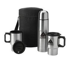 Value Plus Stainless Thermos & Mugs Travel Kit