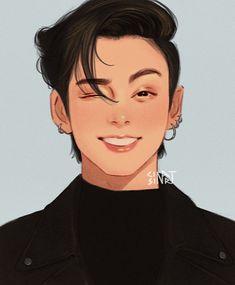 Jungkook Fanart, Jeon Jungkook Cute, Foto Jungkook, Kpop Fanart, Foto Bts, Kpop Drawings, Art Drawings Sketches, Dibujos Cute, Bts Chibi