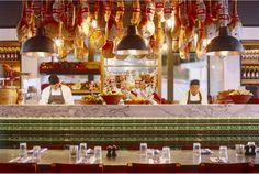 Open kitchen at the Covent Garden restaurant by Martin Brudnizki Design Studio | Jamie's Italian