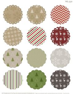 Free printable round labels with editable fields.. ready to print for all you Christmas gifts :)