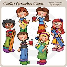 Back+To+School+Kids+3+-+Clip+Art+-+$1.00+:+Dollar+Graphics+Depot,+Quality+Graphics+~+Discount+Prices