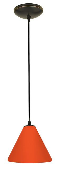 Amazon.com: Access Lighting 28004-1C-ORB/RED Martini Glass Pendant One Light Pendant with Cord, Oil Rubbed Bronze