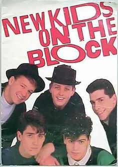 new kids on the block!! After 6 hrs of standing in line in the pouring rain at Great Adventure, I bawled my 12 yr old eyes out when they came on stage.