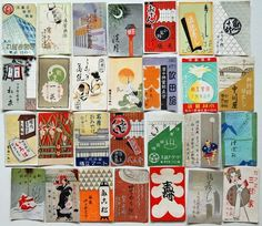 1930s Japanese 277 Matchbox Labels Sake Bar Sushi Restaurant Cafe Design | eBay