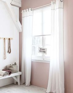Love the color combination ☺ Curtain Inspiration, Bathroom Inspiration, Interior Inspiration, Shabby Bedroom, Girls Bedroom, Beautiful Interiors, Colorful Interiors, Home Wallpaper, Bedroom Colors