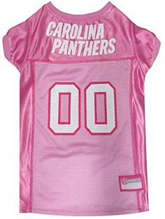 Pets First NFL Carolina Panthers Jersey, Large, Pink >>> You can find out more details at the link of the image.