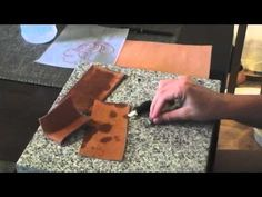 Beginning Basic for people who want to learn how to work leather. This video focuses on how to case leather and make it perfect for working on. Leather Tutorial, Leather Crafts, Leather Working, Tutorials, Videos, Youtube, How To Make, Tooled Leather, Leather Craft