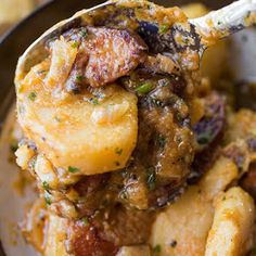 Saucy Hungarian Red Potato Goulash with Smoked Sausage and Savory Caramelized Onions