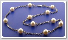 chain 24 inches with 3 pearls - Google Search